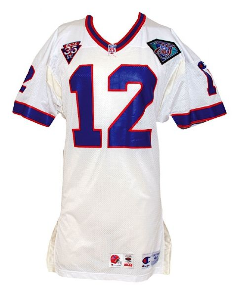 1994 Jim Kelly Buffalo Bills Game-Used Road Jersey