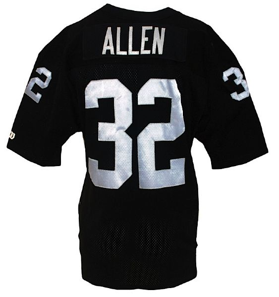 1992 Marcus Allen Oakland Raiders Game-Used Home Jersey (Team Repair)