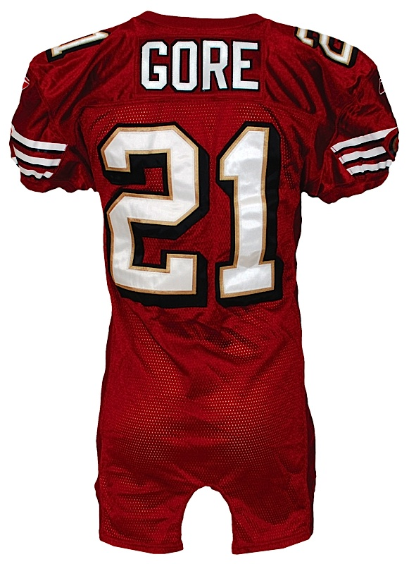 Lot Detail - 2007 Frank Gore San Francisco 49ers Game-Used Home ...