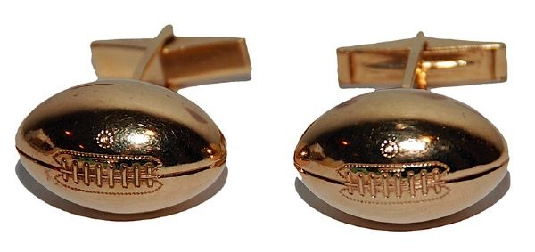 Rosey Browns Personal Football Shaped Cufflinks (Family LOA)