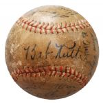1933 NY Yankees Team Signed Baseball with Ruth, Gehrig and Others (JSA)