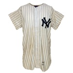 1955 Phil Rizzuto New York Yankees Game-Used Home Pinstripe Jersey (Photomatch) (Very Rare)