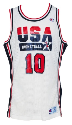 1992 Magic Johnson Olympic Dream Team S.I. Photo Shoot Worn Prototype Home Uniform (Photomatch) (2)