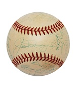 1949 New York Yankees Team Signed Baseball (JSA)
