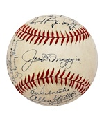 1946 New York Yankees Team Signed Baseball (JSA)