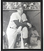 Original Yankee Stadium Photos of Joe DiMaggio & Yogi Berra (Ex-Clete Boyer) (2)