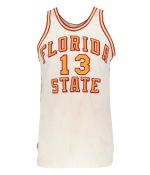 Circa 1968 Dave Cowens Florida State Seminoles Game-Used Home Jersey (Cowens LOA)