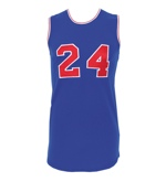 "1972 Rick Barry ABA ""Super Games"" Game-Issued Blue Jersey (Trautwig Collection) (Trautwig LOA) (Rare)"