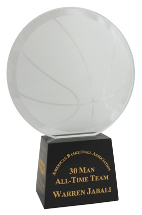1997 Warren Jabali ABA 30 Man All-Time Team Award (Jabali Collection) (Jabali LOA)