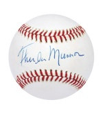 Thurman Munson Single-Signed Baseball (Mickey Rivers LOA) (Nicest in the Hobby) (JSA)