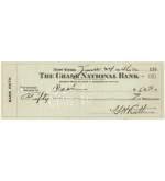 "6/24/1946 George Herman ""Babe"" Ruth Double Endorsed Personal Check (JSA)"