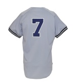 1989 Mickey Mantle NY Yankees Coaches Worn Road Jersey