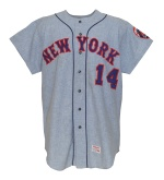 1971 Gil Hodges NY Mets Managers Worn Road Flannel Uniform (2)