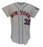 1966 Dennis Ribant NY Mets Game-Used Road Flannel Re-Issued To & Worn by Nolan Ryan in 1967 & S.T. 1968 During His Rookie Campaign (Grob LOA)