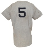 1948-49 Joe DiMaggio NY Yankees Game-Used Road Flannel Jersey (Photomatch)