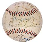 1928 NY Yankees World Championship Team Autographed Baseball with Ruth, Gehrig and Ruppert  (JSA) (Letter of Provenance - Originates From Jacob Ruppert)