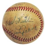 Babe Ruth & Lou Gehrig Autographed Baseball (JSA)