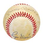 Mickey Mantle & Roger Maris Autographed Baseball (JSA) (Very Rare Haiti Ball) (Sheehy Collection)