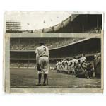 "June 13th, 1948 ""The Babe Bows Out"" Nat Feins Original & Actual Wire Photograph Published in the NY Herald Tribune (JSA) (Fein LOAs) (Most Historic Photo in Sports History)"