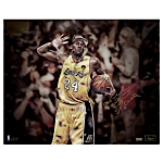 "Kobe Bryant Autographed Winning Championship 16x20 Photo w ""5x Champion"" Insc. Signed in Gold LE/24 (Panini Auth)"