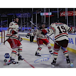 Ryan Callahan Autographed 2012 Winter Classic Celebration with Brandon Dubinksy and Brad Richards Horizontal 16x20 Photo (Steiner COA)