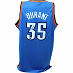 Kevin Durant Autographed Blue Thunder Replica Jersey Signed (Panini Auth)