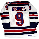 Adam Graves Autographed New York Rangers 1994 Replica White Jersey (Signed on Back) (Steiner COA)