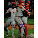 "Roy Halladay Autographed ""PG 5-29-10"" Perfect Game Vertical 8x10 Photo (MLB Auth)"