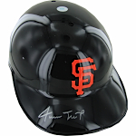 Willie Mays Autographed San Francisco Giants Black Throwback Batting Helmet (No Flaps)
