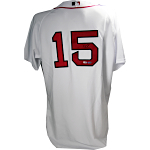 Dustin Pedroia Autographed Red Sox Authentic Home Jersey (Steiner COA)