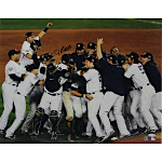 Andy Pettitte Autographed 2009 Yankees WS Celebration 16x20 Photo (Steiner COA)