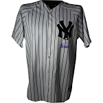 Jorge Posada Autographed Yankees Replica Home Jersey (Signed on Front) (MLB Auth)