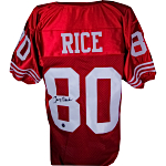 Jerry Rice Autographed San Francisco 49ers Jersey (Rice Holo Only)