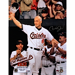 "Cal Ripken Jr. ""2632"" Wave From Dugout Vertical 16x20 Photo (MLB Auth)"