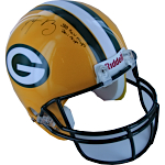 "Aaron Rodgers Packers Authentic Helmet w/ ""SB XLV MVP, 2011 MVP"" Insc. (Steiner COA)"