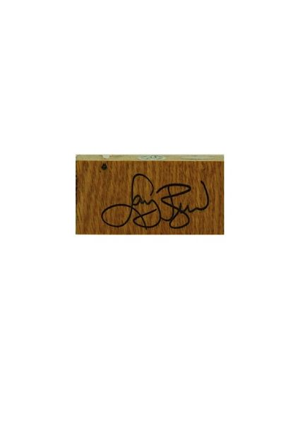 Larry Bird Boston Garden Parquet Court Piece