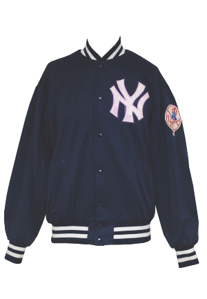 1970s NY Yankees Bench Worn Cold Weather Jacket Attributed to Thurman Munson