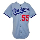 1994-95 Orel Hershiser Los Angeles Dodgers Game-Used Road Jersey (Hershiser LOA)