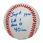1988 Orel Hershiser 59 Consecutive Scoreless Innings Streak Game-Used Baseball - 40th Inning Actual Baseball (Hershiser LOA)