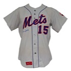 1974 Jerry Grote NY Mets Game-Used & Autographed Road Jersey (JSA)