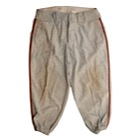 1947 Bobby Thomson Rookie NY Giants Game-Used Road Flannel Pants with 1947 Signed Endorsement Contract (2)(JSA)