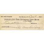 Extraordinary 1934 Henry Louis Gehrig Hand Signed Bank Note (Full JSA)