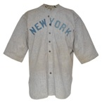 "1919 Frank ""Home Run"" Baker NY Yankees Game-Used Road Flannel Jersey (Photomatch • Only Known Example • Earliest Known Jersey of Any Yankee Hall of Famer)"