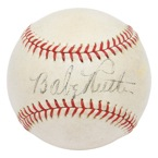 Babe Ruth Single Signed Official American League Baseball (Full JSA)
