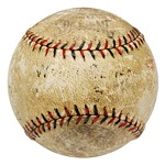"10/12/1923 World Series Game 4 Game-Used Baseball (Dick Dobbins LOA • Sourced from George ""High Pockets"" Kelly • NY Yankees vs. NY Giants)"