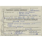 7/17/79 Thurman Munson Signed & Encapsulated FAA Temporary Airman Certificate (Full JSA • PSA/DNA)