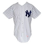 1983 Butch Wynegar New York Yankees Game-Used Home Jersey & 1984 Jeff Torborg New York Yankees Coaches Worn Home Jersey (2)