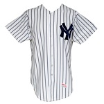 1982 Barry Evans New York Yankees Game-Used Home Jersey & 1984 Jose Rijo New York Yankees Game-Used Home Jersey (2)