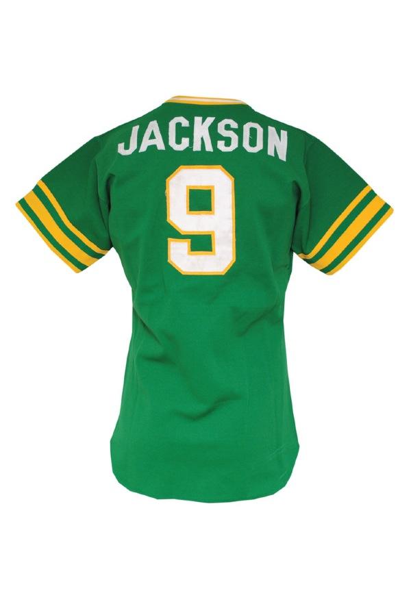 premium selection 6cd97 a2e7a Lot Detail - 1975 Reggie Jackson Oakland A's Game-Used ...