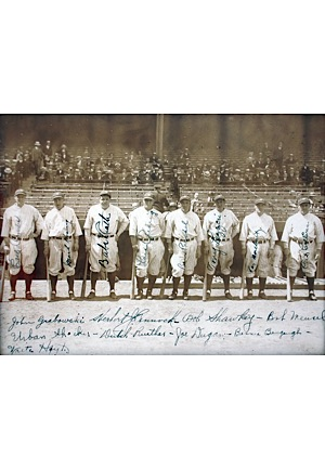 "1927 New York Yankees ""Murderers Row"" Team Signed Photo (Full JSA • Championship Season)"